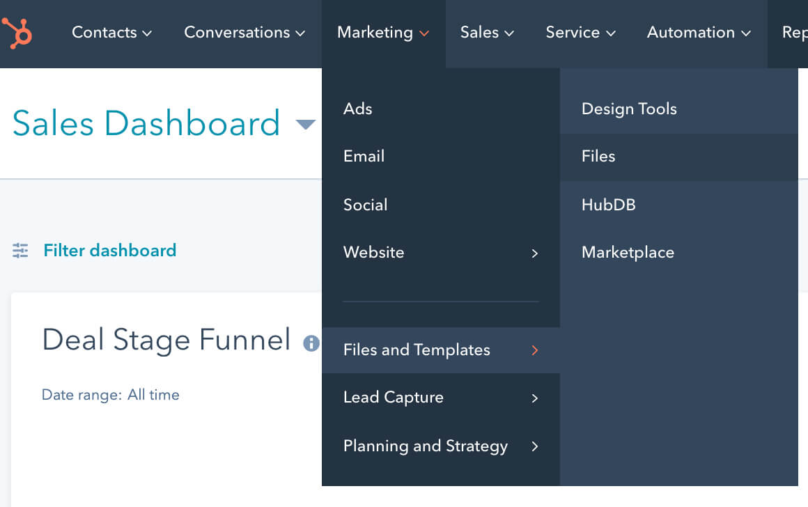 6. HubSpot File Manager