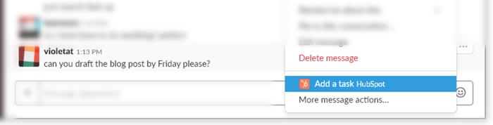 HubSpot Slack Integration Task Example